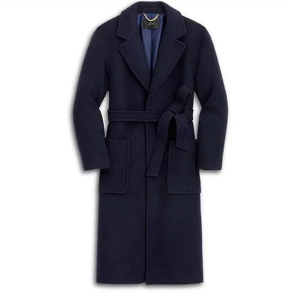 J. Crew Jackets & Blazers - J Crew Long Wrap Coat in Italian Boiled Wool NEW